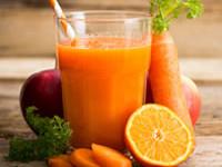 Receita de sumo de cenoura detox